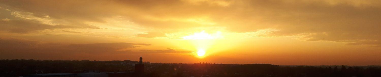 sun setting picture