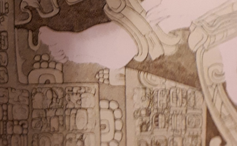 A foot is seen bound to the machine in Mayan Art
