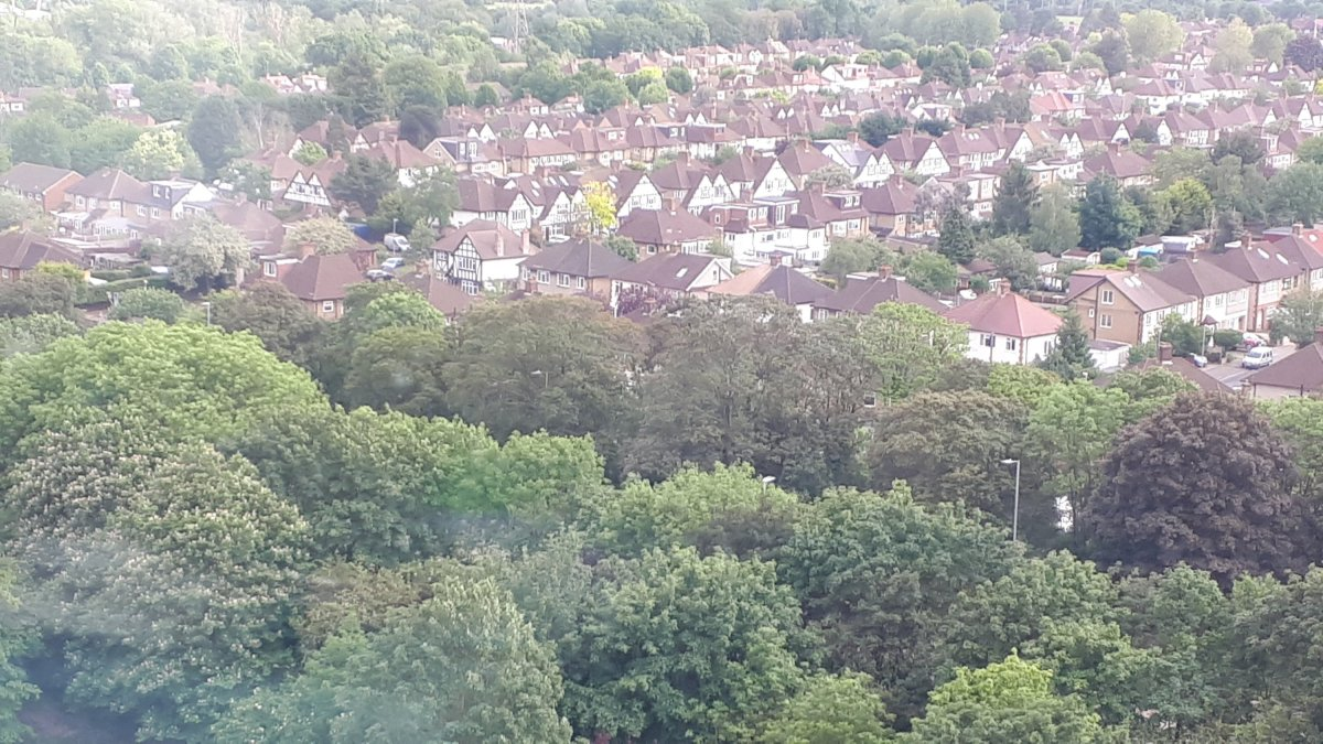 English houses 2019 Lots of trees.