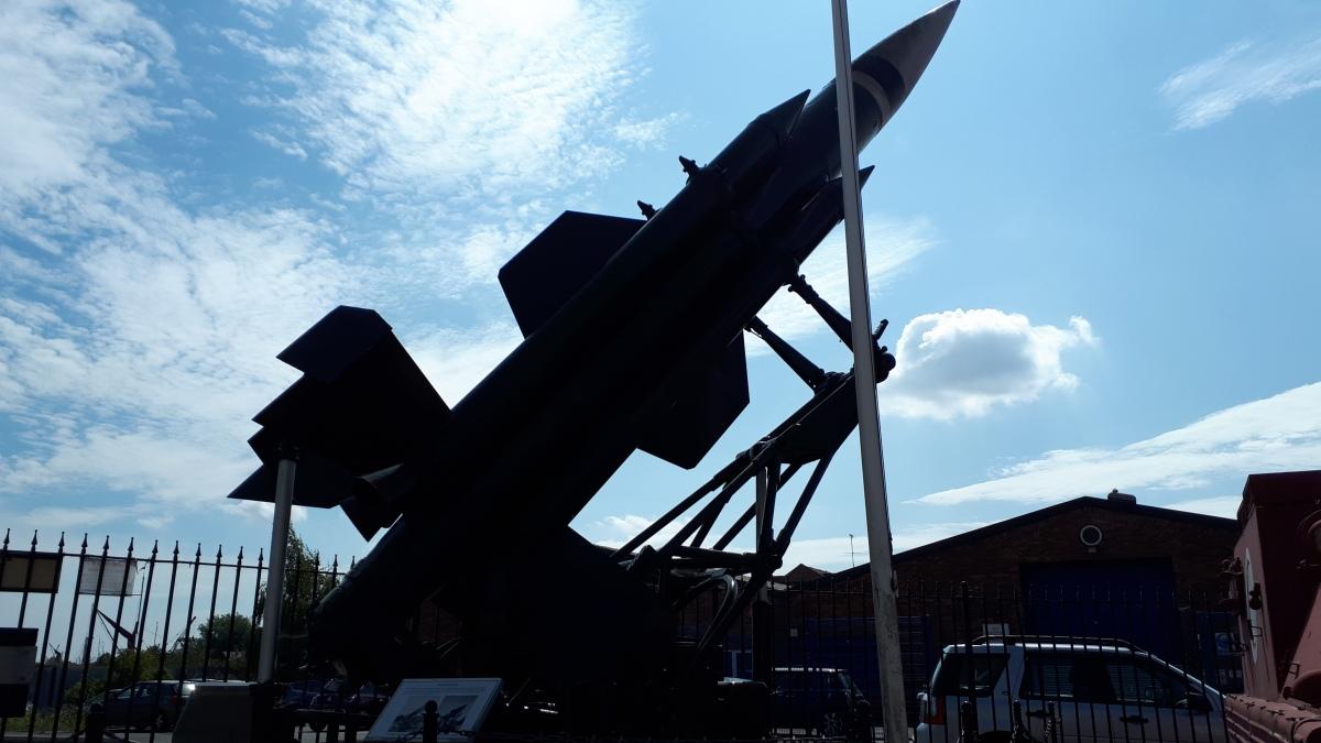 decommissioned rocket launcher