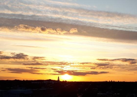 Vanilla skies over Watford in Autumn 2019