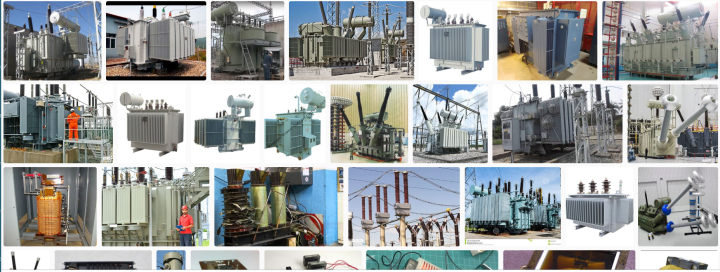 Graphic of different types of Heavy Voltage transformers used to step electric up and down.