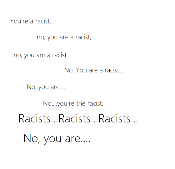 The word racist is misused.