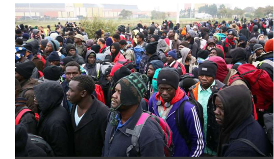 Undocumented migrants from Africa in Europe