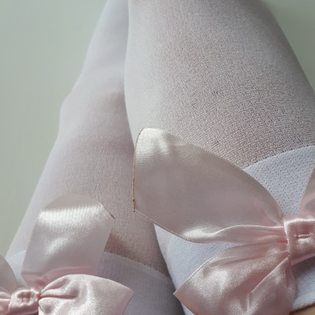 white stockinged legs, black mary jane shoes