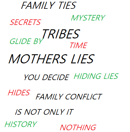Tribe graphic regarding family lies and secrets