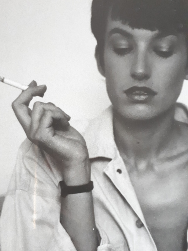 model with cigarette