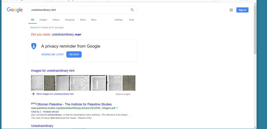 Google returns